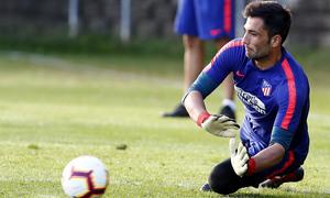 Temporada 18/19. Entrenamiento en la ciudad deportiva Wanda Atlético de Madrid. 06_09_2018. Adán.
