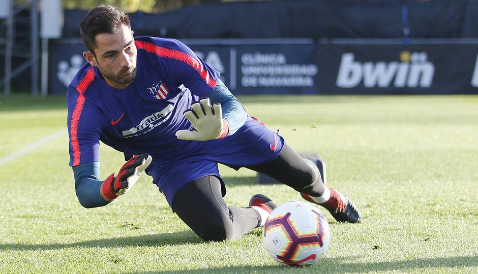 Temporada 18/19. Entrenamiento en la ciudad deportiva Wanda Atlético de Madrid. 07_09_2018. Adán