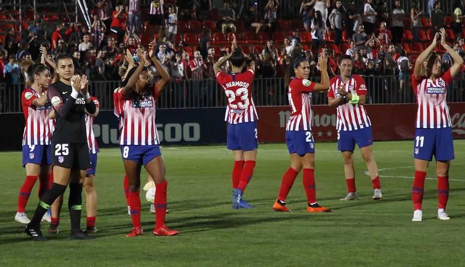 Temporada 2018-2019 | Atlético de Madrid Femenino - Manchester City Femenino | Aplausos a la grada