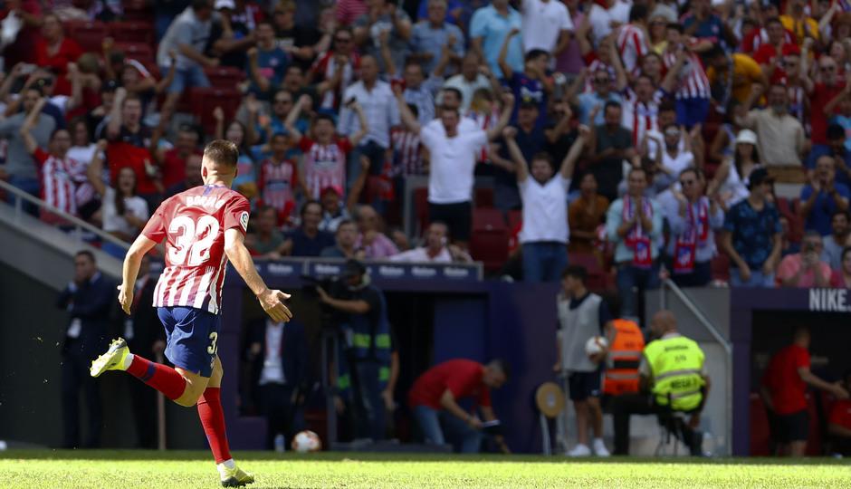 Temporada 2018/2019. Atlético de Madrid vs SD Eibar. Celebración Borja Garcés.