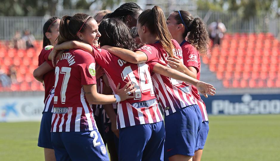 Temporada 2018-2019 | Atlético de Madrid Femenino - Logroño | Celebración gol