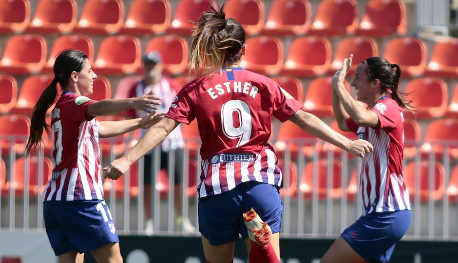 Temporada 2018-2019 | Atlético de Madrid Femenino - Logroño | Esther, Chidiac y Meseguer