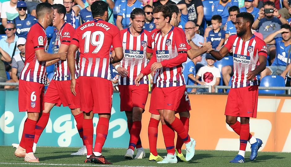 Temporada 2018-2019 | Getafe - Atlético de Madrid | Celebración del gol de Lemar
