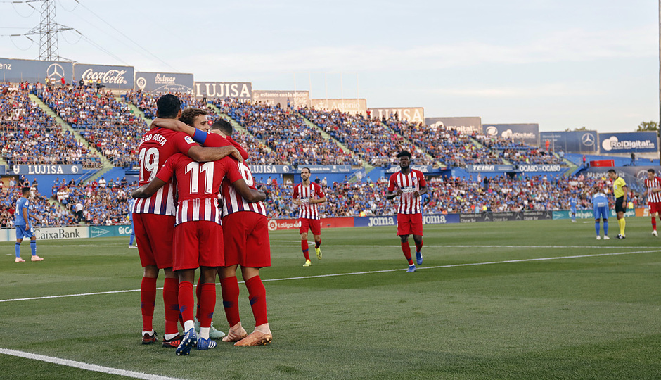 Temporada 2018-2019 | Getafe - Atlético de Madrid | Celebración del segundo gol de Lemar