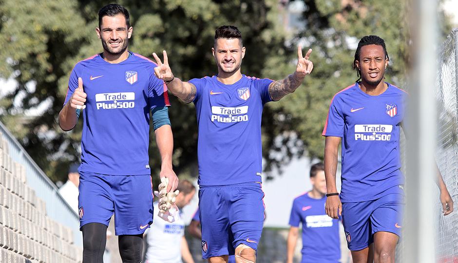 Temporada 18/19 | Entrenamiento del primer equipo | 23/09/2018 | Adán, Vitolo y Gelson