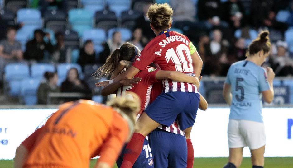 Temporada 18/19 | Manchester City Femenino - Atético Femenino | Celebración gol