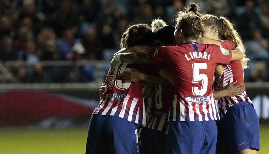 Temporada 18/19 | Manchester City Femenino - Atético Femenino | Celebración gol Ludmila