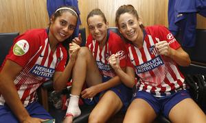 Temporada 18/19 | Manchester City Femenino - Atético Femenino | Kenti, Silvia Meseguer y Esther