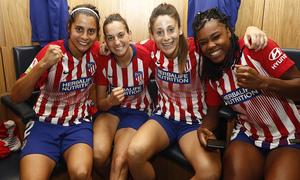 Temporada 18/19 | Manchester City Femenino - Atlético Femenino | Kenti Robles, Silvia Meseguer, Ludmila Silva y Esther