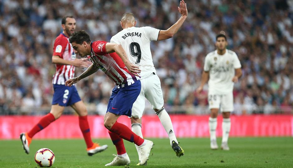 Temporada 2018-2019   Real Madrid -Atlético de Madrid   Giménez