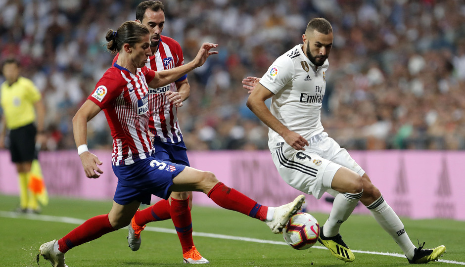 Temporada 2018-2019 | Real Madrid -Atlético de Madrid | Filipe Luis y Godín