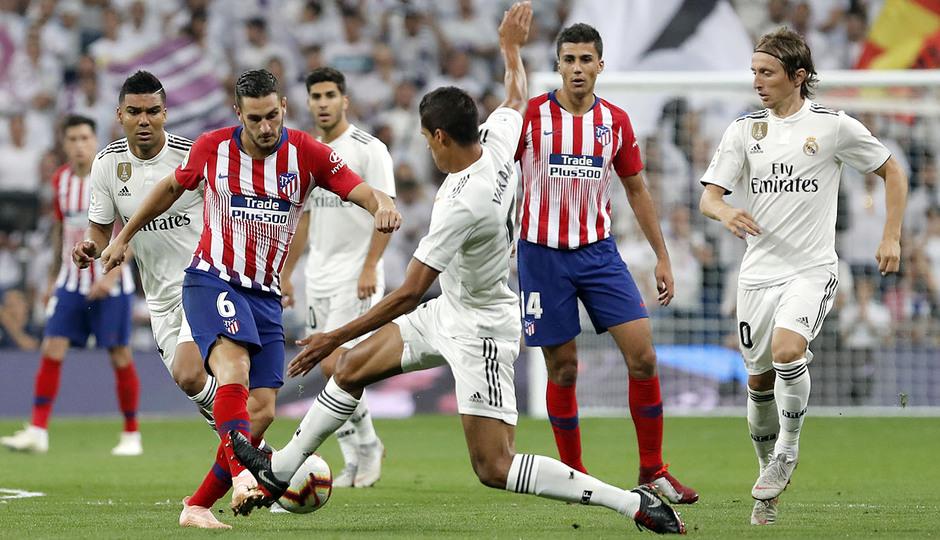 Temporada 2018-2019   Real Madrid -Atlético de Madrid   Koke y Rodrigo