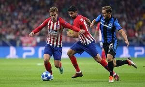 Temporada 2018-2019 | Atlético de Madrid - Brujas | Griezmann y Costa