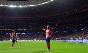 Temporada 2018-2019 | Atlético de Madrid - Brujas | Celebración  2 gol Griezmann