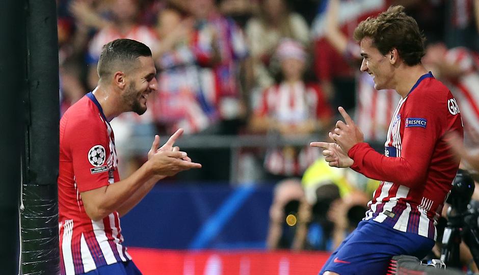 Temporada 2018-2019 | Atlético de Madrid - Brujas | Koke y Griezmann