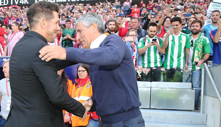 Temporada 2018-2019   Atlético de Madrid - Betis   Simeone y Setién