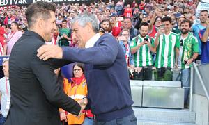 Temporada 2018-2019 | Atlético de Madrid - Betis | Simeone y Setién
