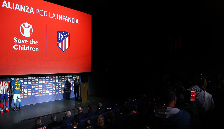 temporada 18/19. Acto Alianza por la Infancia. Save the Children. Wanda Metropolitano