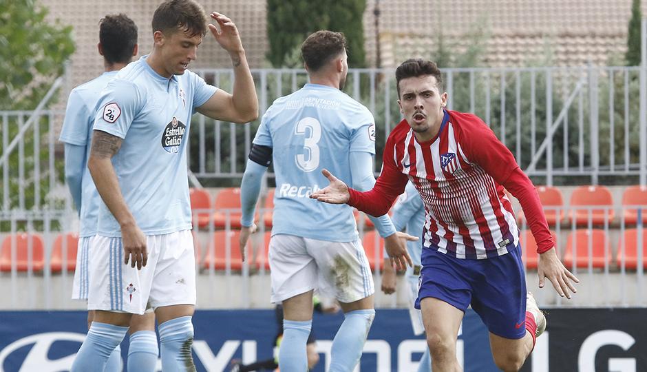 Temporada 18/19 | Atlético de Madrid B - Celta B | Celebración Joaquín