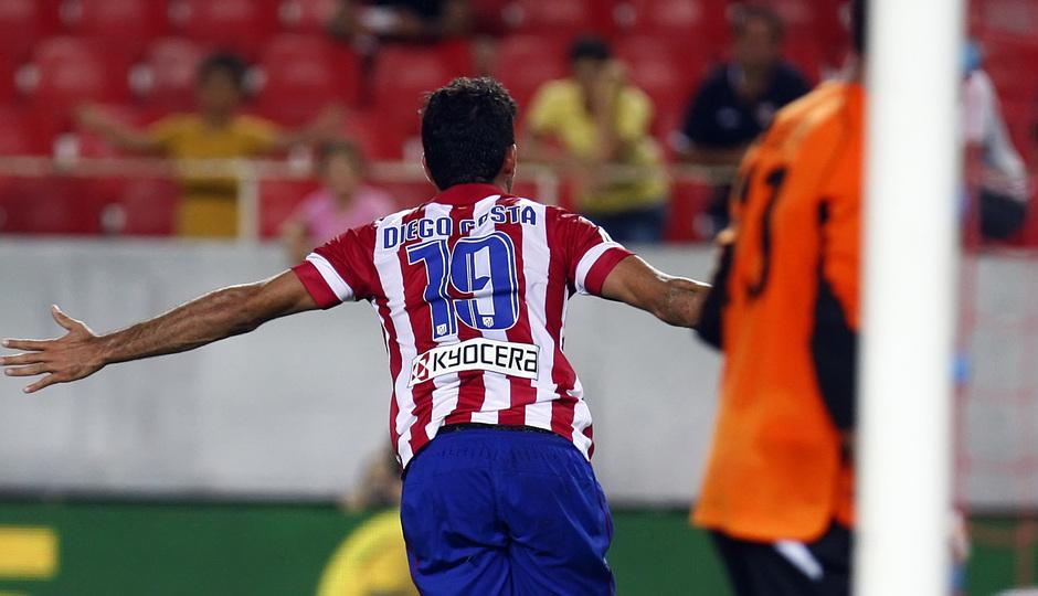 Temporada 13/14 Sevilla-Atlético de Madrid Diego Costa celebrando el gol