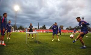 Temporada 2018-2019 | Entrenamiento Ciudad Deportiva Wanda | Borja, Carlos Isaac, Joaquín y Montero