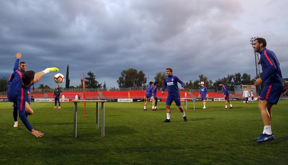 Temporada 2018-2019 | Entrenamiento Ciudad Deportiva Wanda | Saúl, Koke, Griezmann y Godín