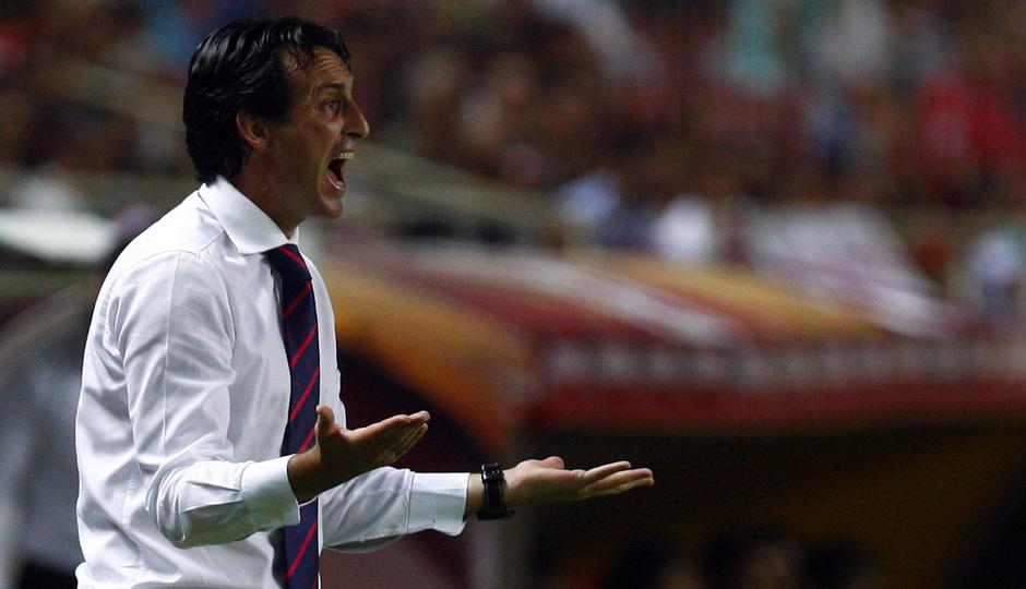 Temporada 13/14 Sevilla-Atlético de Madrid Emery durante el partido