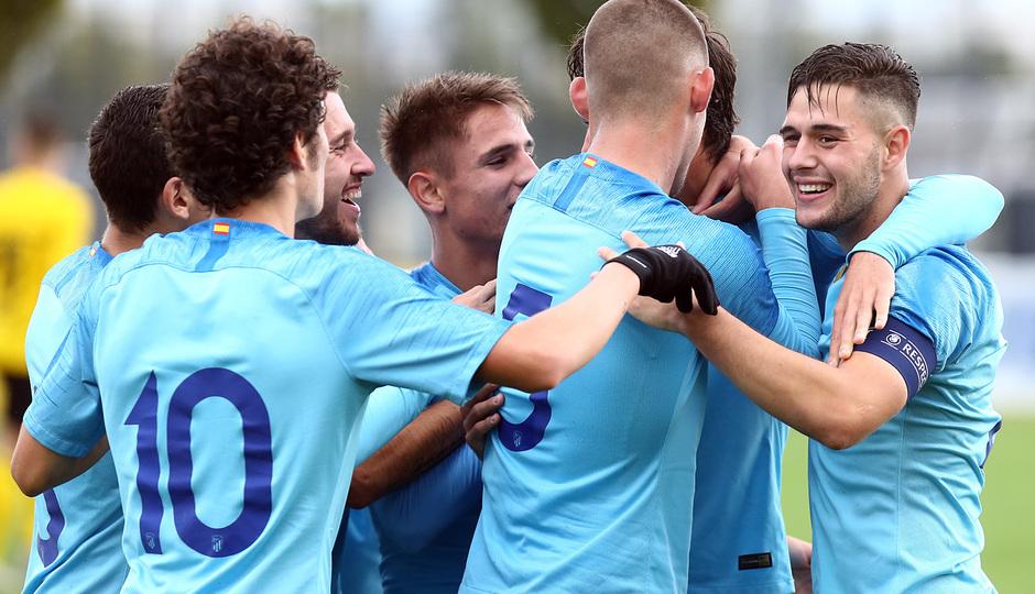Temp. 18-19 | Youth League. Dortmund-Atlético de Madrid. Celebración