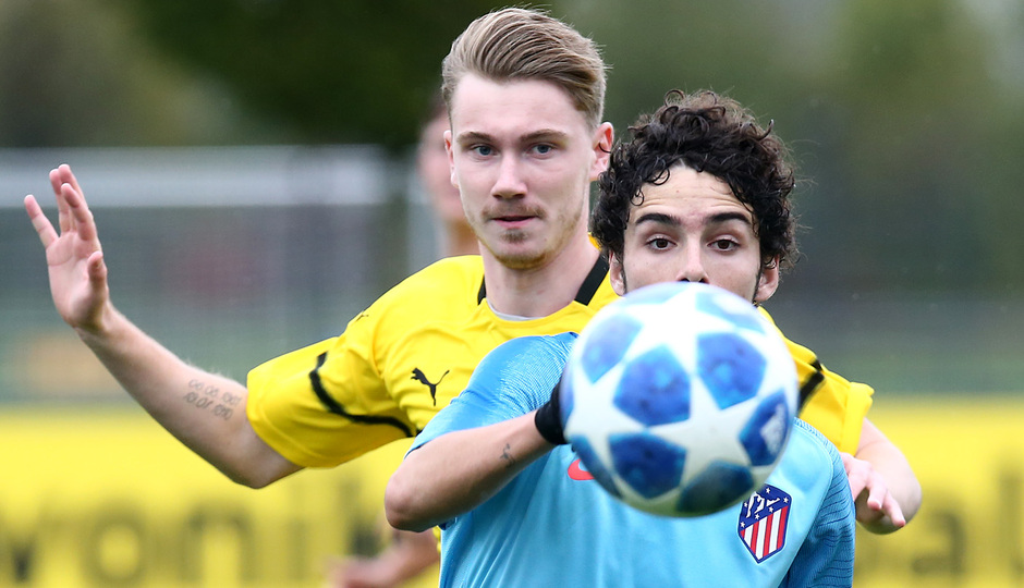 Temp. 18-19 | Youth League. Dortmund-Atlético de Madrid. Sergio Camello