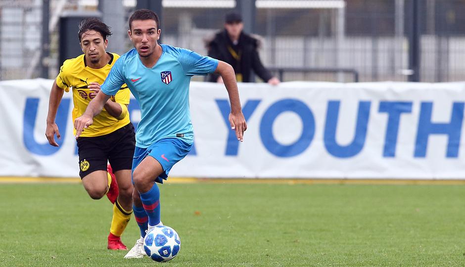 Temp. 18-19 | Youth League. Dortmund-Atlético de Madrid. Óscar Castro