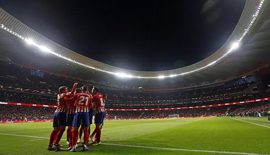 Temporada 2018-2019 | Atlético de Madrid - Real Sociedad | celebración gol Godín