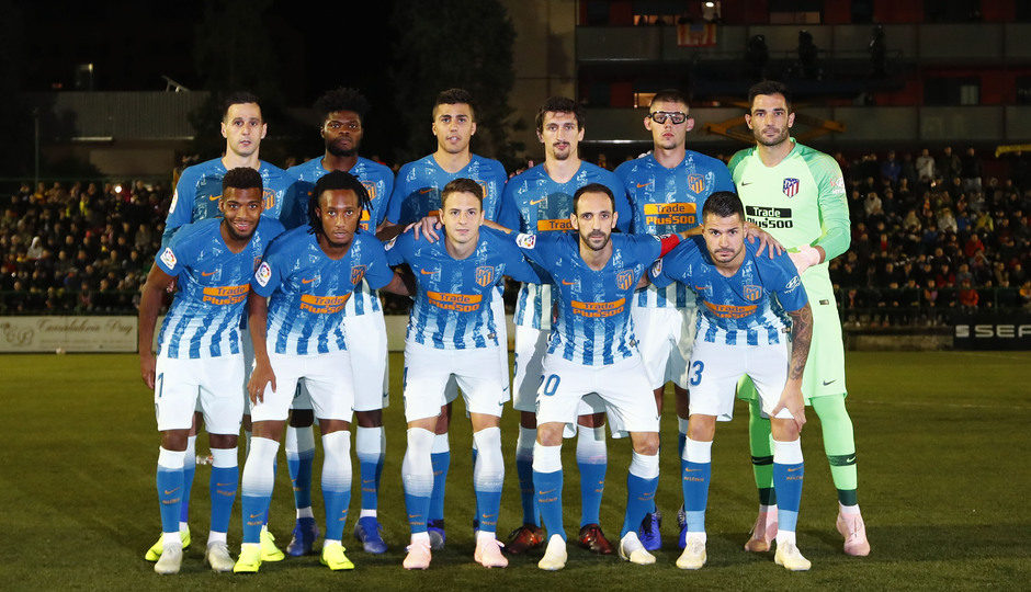 Temporada 18/19   Sant Andreu - Atleti   Copa del Rey   Once