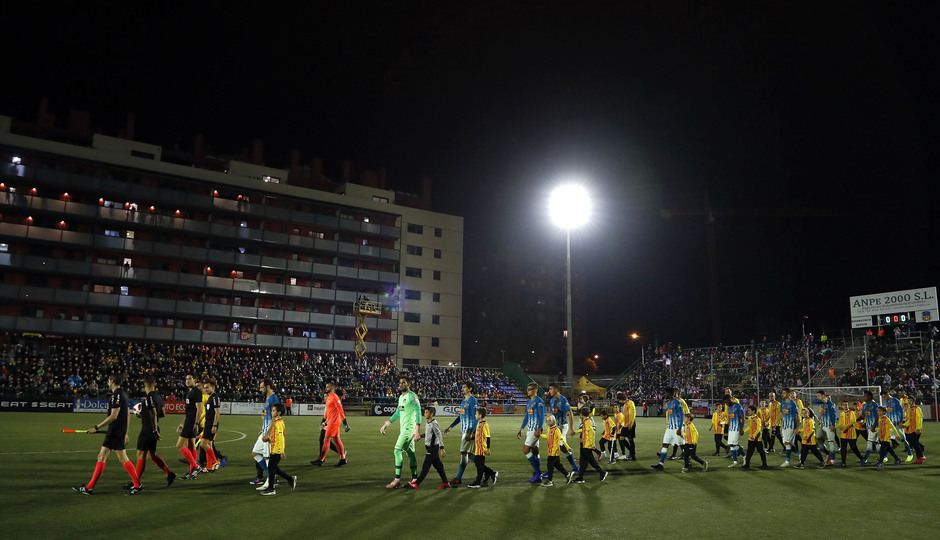 Temporada 18/19   Sant Andreu - Atleti   Copa del Rey   Entrada al campo