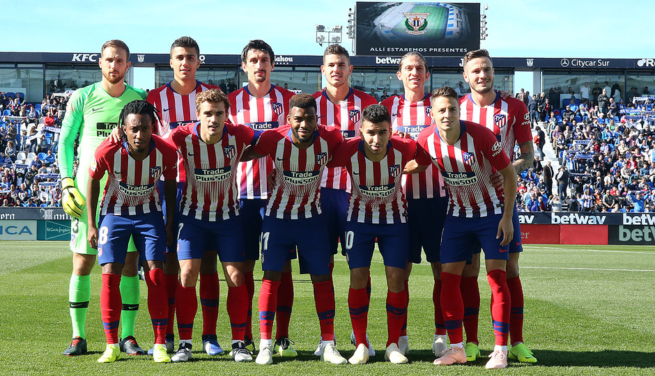 Temporada 2018-2019   Leganés - Atlético de Madrid   Once