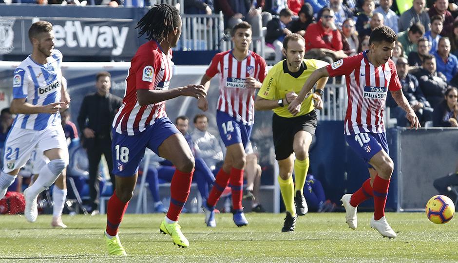 Temporada 2018-2019 | Leganés - Atlético de Madrid | Gelson y Correa