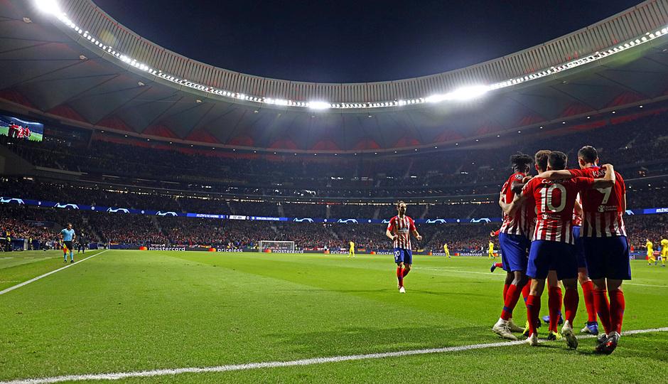 Temporada 2018-2019 | Atlético de Madrid - Dortmund | Celebración gol Saúl