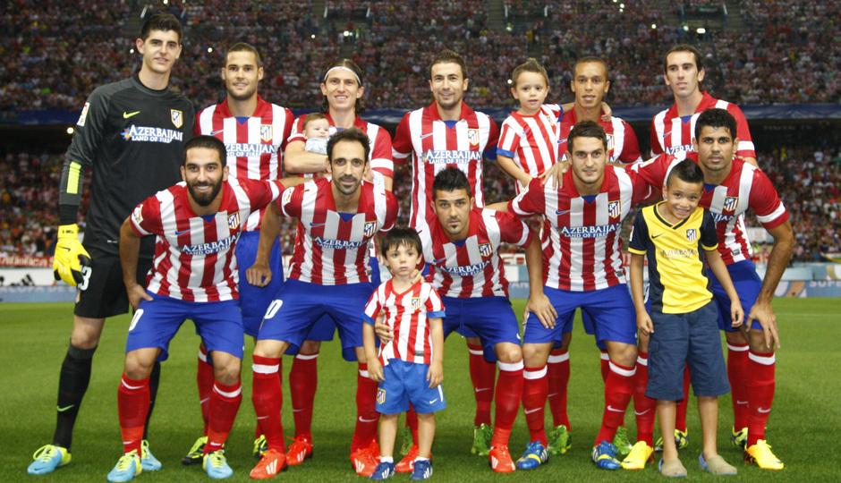 Once titular del Atlético de Madrid frente al Fútbol Club Barcelona