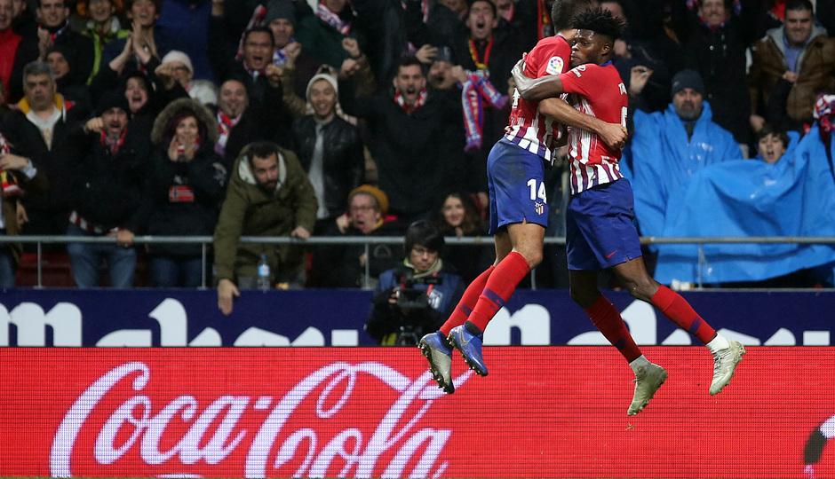Temp. 18-19 | Atlético de Madrid - Athletic Club | Celebración gol Rodrigo con Thomas