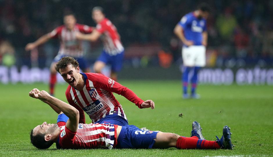 Temp. 18-19   Atlético de Madrid - Athletic Club   Celebración gol Godín