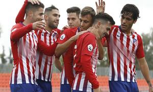 Temporada 18/19 | Atlético de Madrid B - Salmantino | Celebración Joaquín