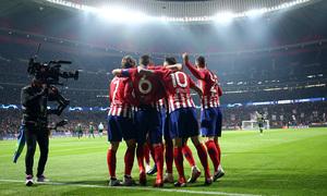 Temp. 18-19 | Atlético de Madrid - Mónaco | celebración gol Koke