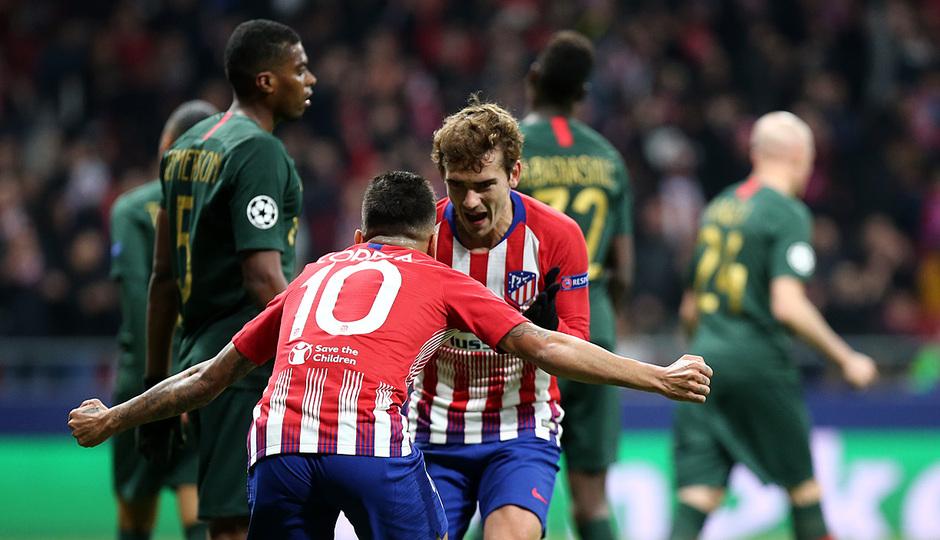 Temporada 18/19 | Atlético de Madrid - Mónaco | Griezmann y Correa