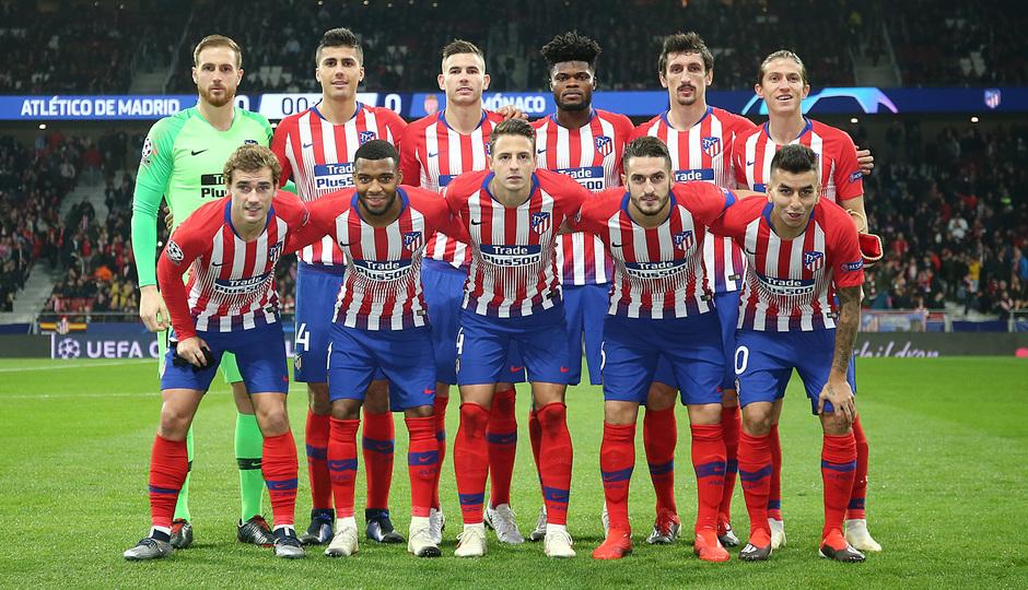 Temporada 18/19   Atlético de Madrid - AS Mónaco   Once