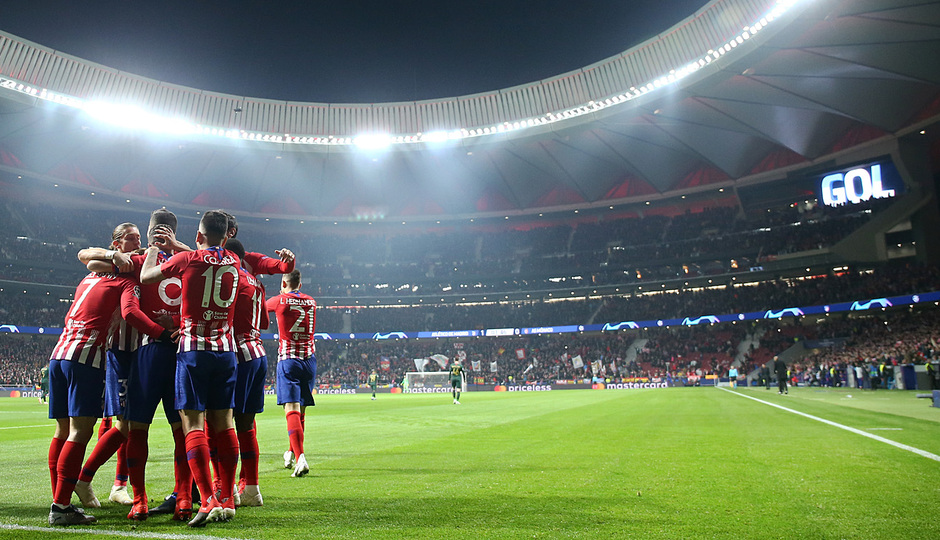 Temporada 18/19 | Atlético de Madrid - AS Mónaco | celebración gol Koke