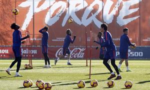 Temporada 18/19 | Entrenamiento en la Ciudad Deportiva Wanda | 30/11/2018 | Thomas y Savic