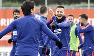 Temporada 18/19 | 1/12/2018 | Entrenamiento en la Ciudad Deportiva Wanda | Saúl y Savic