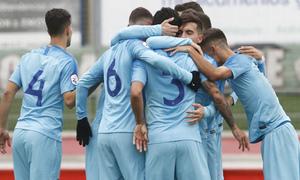 Temp 2018-2019   Sanse - Atlético de Madrid B   Piña celebración