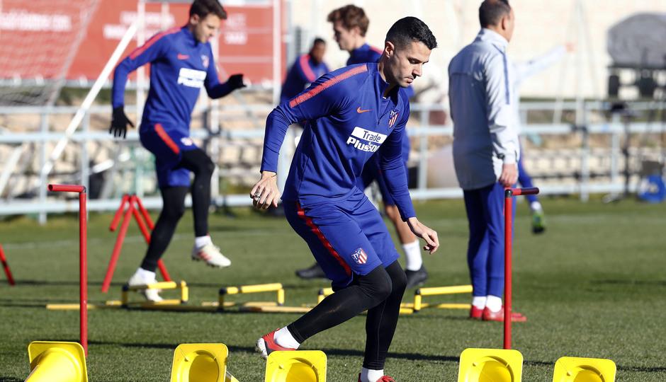 Temporada 18/19. Entrenamiento en la ciudad deportiva Wanda Atlético de Madrid. 04_12_2018. Vitolo.