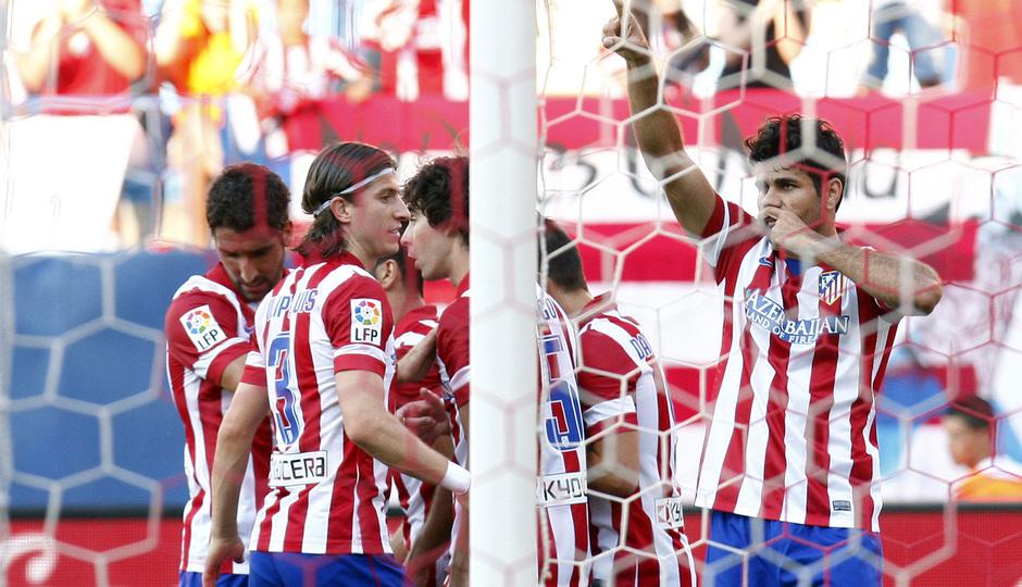Temporada 2013/2014 Atlético de Madrid - Rayo Vallecano Diego Costa celebrando el tanto