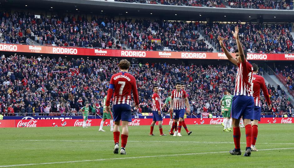 Temporada 2018-2019 | Atlético de Madrid - Alavés | celebración gol Rodrigo
